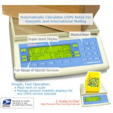 VP-70 USPS Rate Computing Postal Scale, 0-7 lb x 0.1 oz