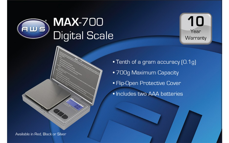 MAX-700-SIL Digital Pocket Scale - Featured : Scales.net