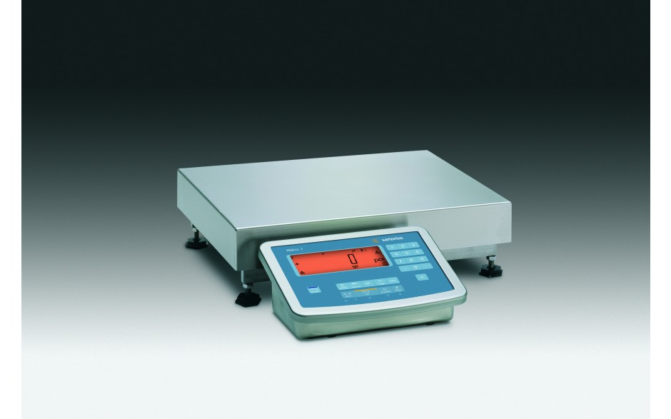 MW2S1U-15DC-LCA  Midrics Complete Stainless Steel Bench Scales Measurement Canada Approved, 15kgx5gr, 320x240mm platform , Verifiable