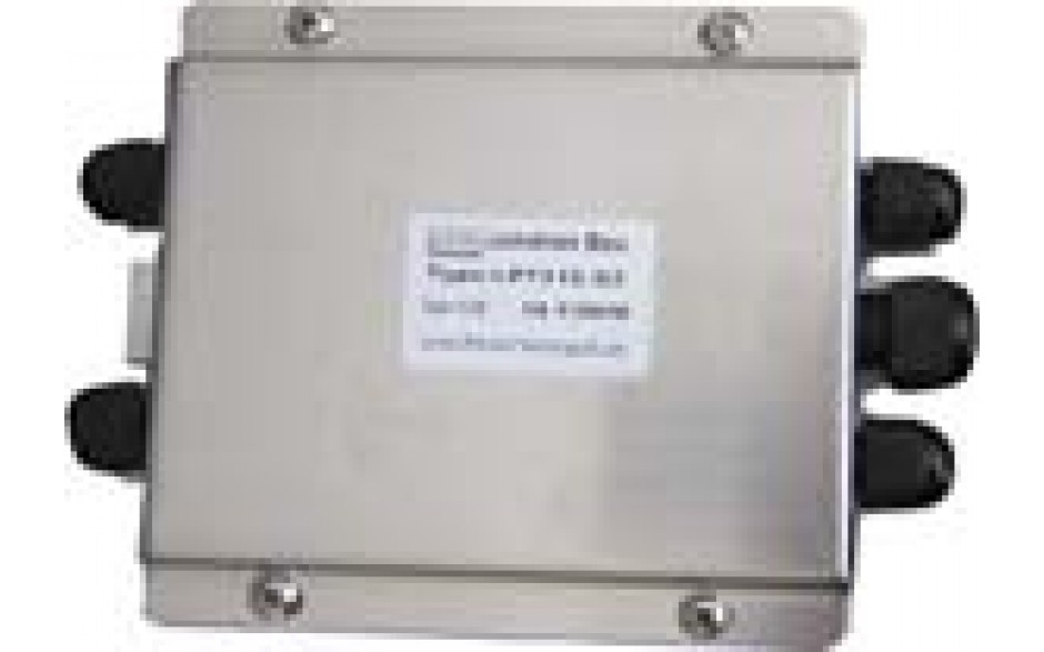 "Junction Box (With Summing Card) - Stainless Steel - 4 Channel - 6""(L) x 4.5""(W) x 1.5""(H)"