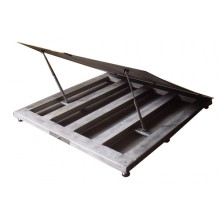 """Lift-Up Top Stainless Steel Washdown Floor Scales 4' x 4' x 4.2""""(H) 5000lbs"""